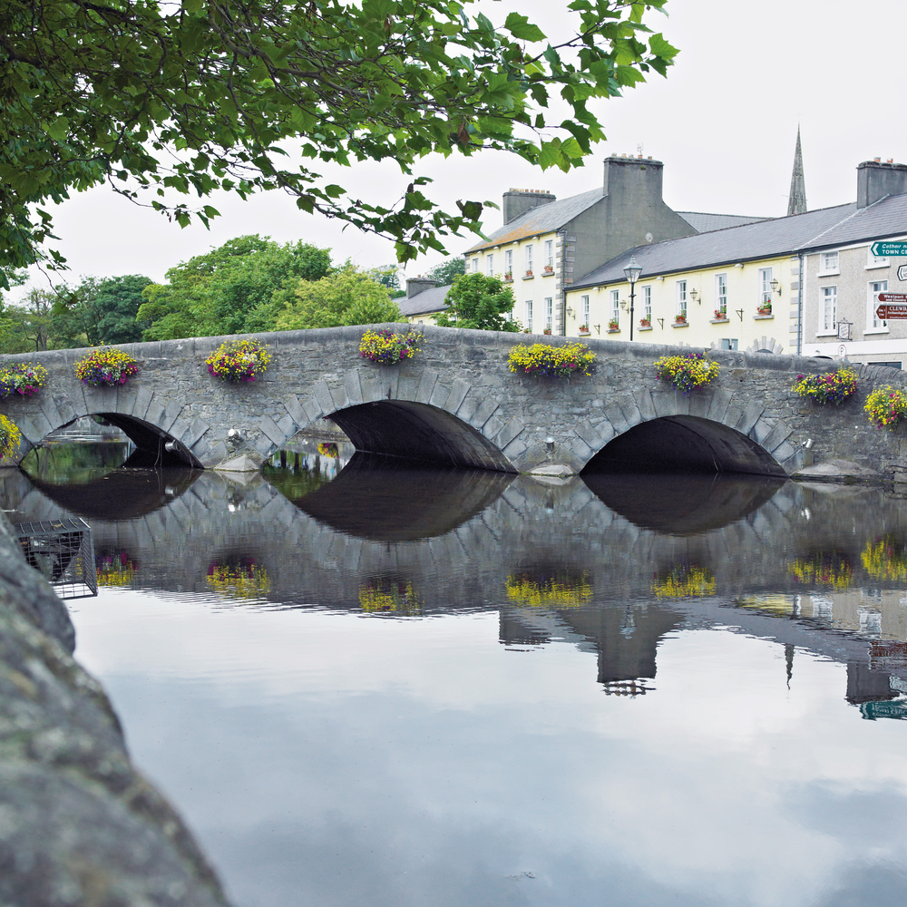 Carrowbeg River flowing through Westport's city centre Connemara Life 2016