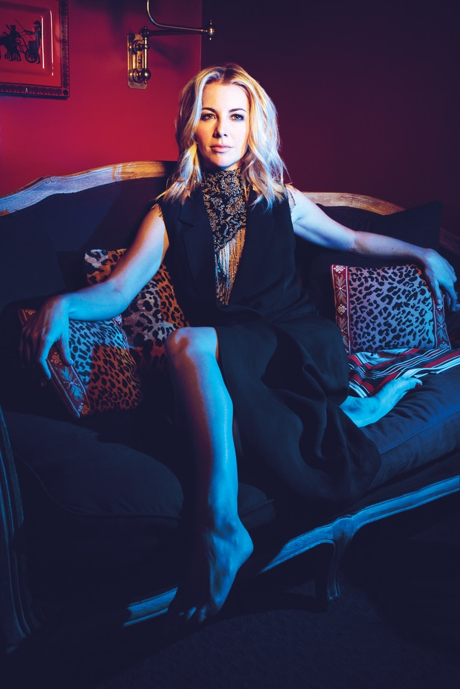 Morgan James lounging in a Mimi Prober gown The Sophisticate Issue 2016