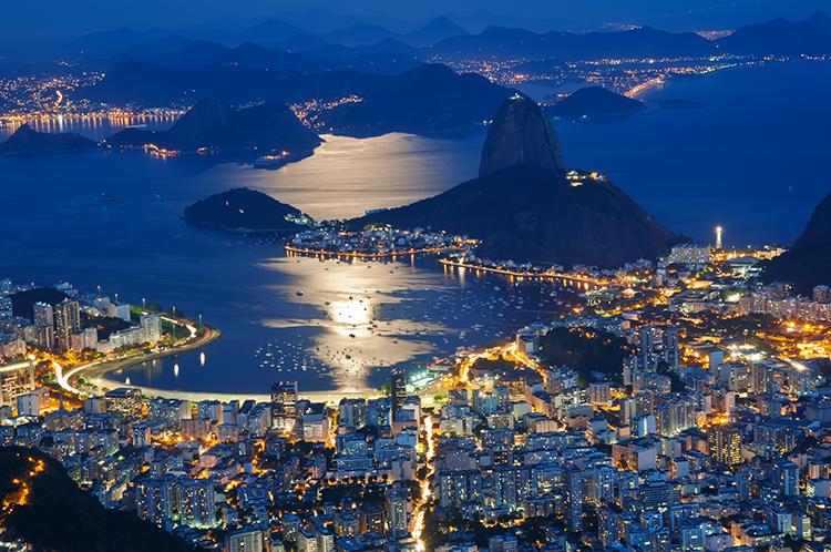 Rio De Janiero Landscape city lights