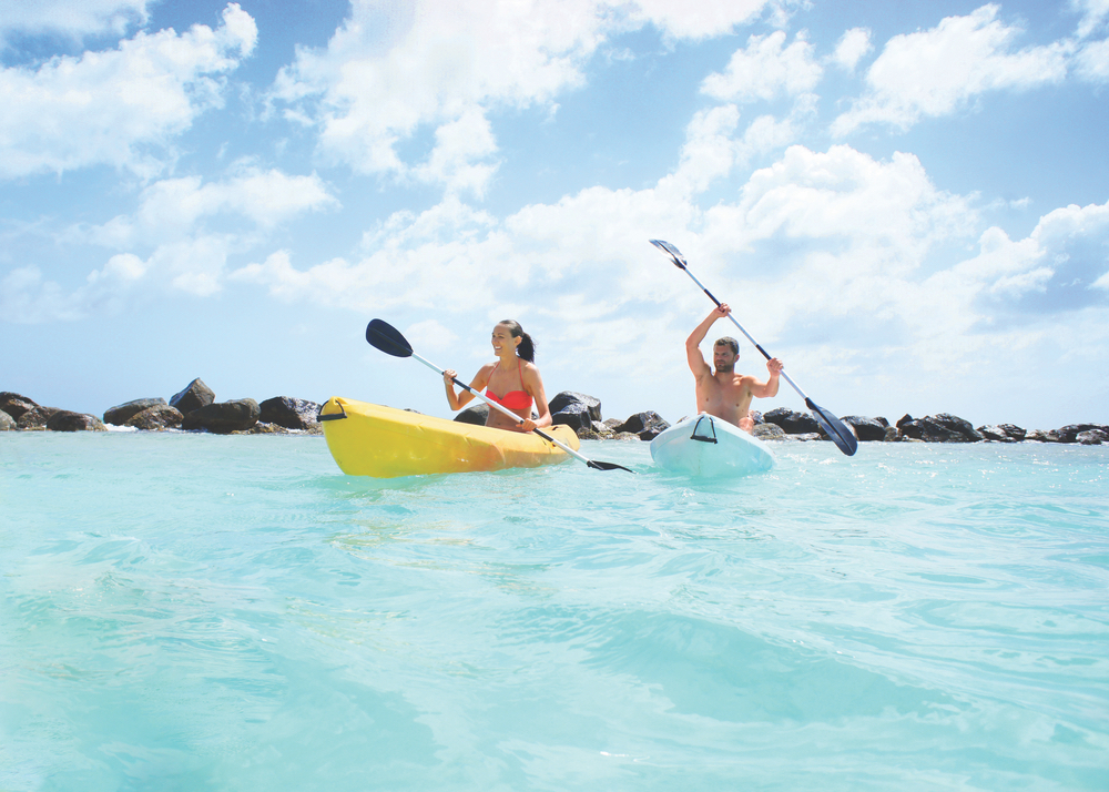 Kayaking is among the many popular activities that keep guests and locals of Aruba fit and having fun in the beautiful Caribbean.