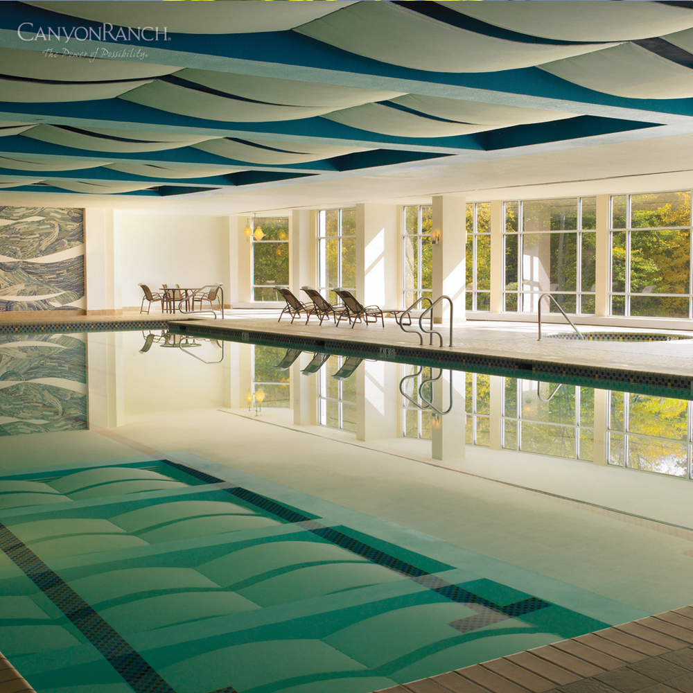 Indoor pool at Canyon Ranch Resort & Spa Lenox, in Massachusetts, USA