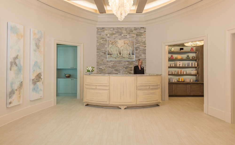 Front desk at Henderson Inn Beach Resort Spa