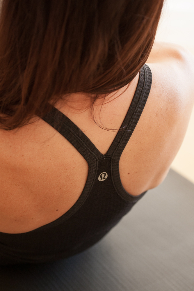 Lululemon sports bra. Photo by Dawn Chapman Whitty.