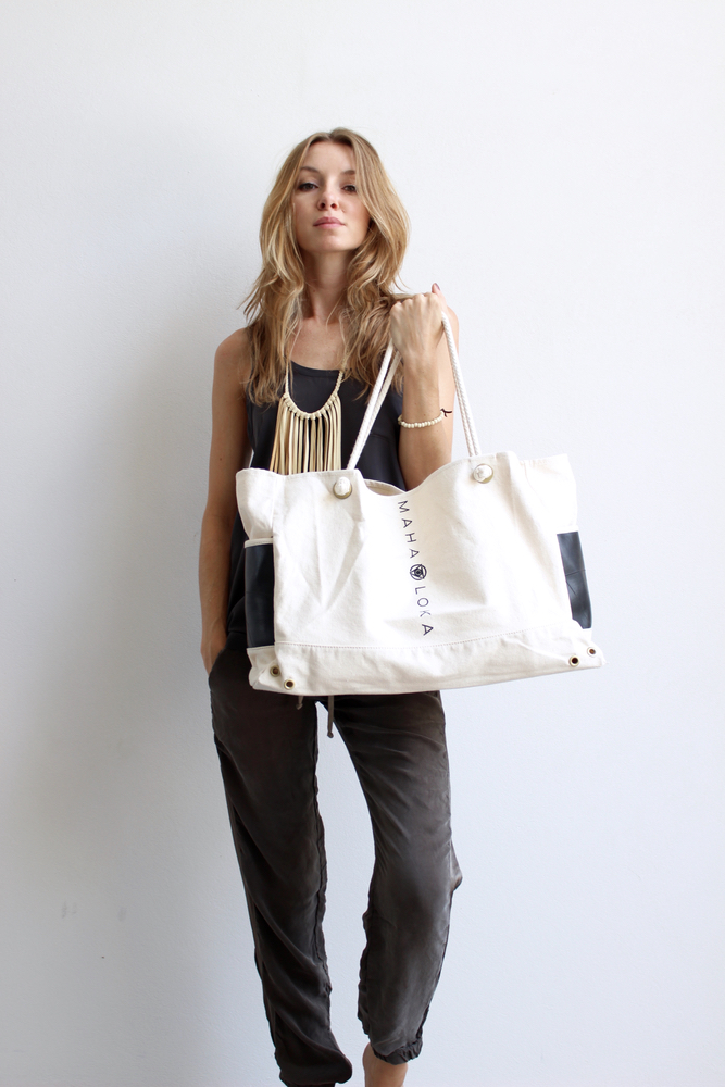 Model carrying Maha Loka bag stylish fashion VIE magazine
