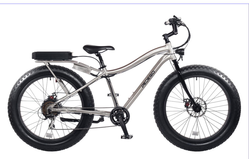 Pedego electric bike gray and black 30a bicycle