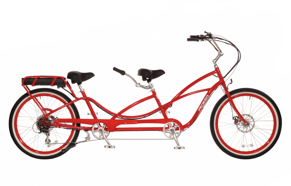 Pedego Tandem Cruiser bike electric bicycle built for two 30a