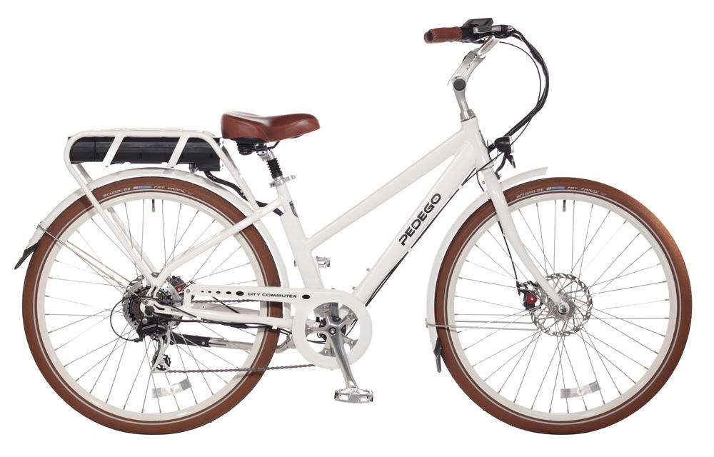sleek white bicycle pedego 30a electric bikes