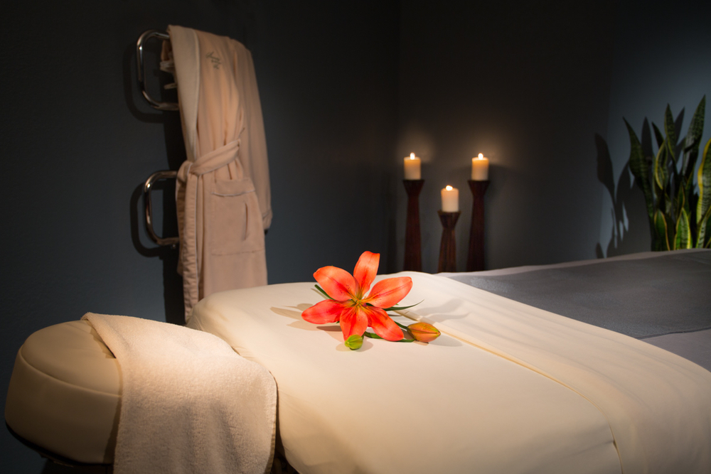 Massage table at Serenity by the Sea Spa in Miramar Beach, Florida