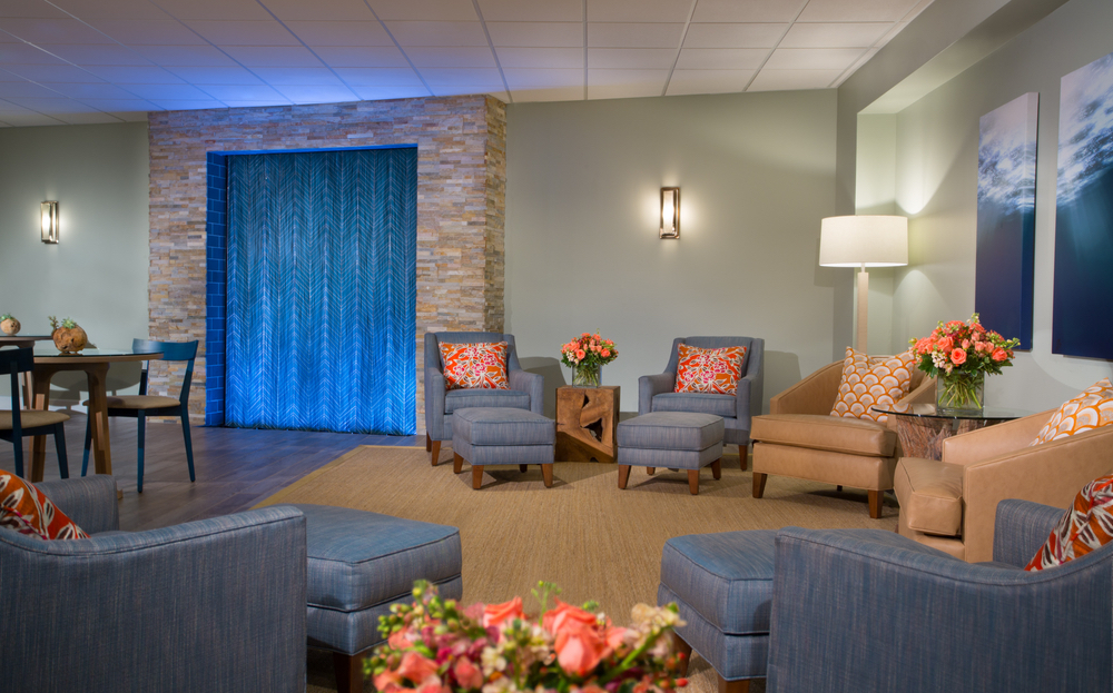 Lounging room at Serenity by the Sea Spa in Miramar Beach, Florida