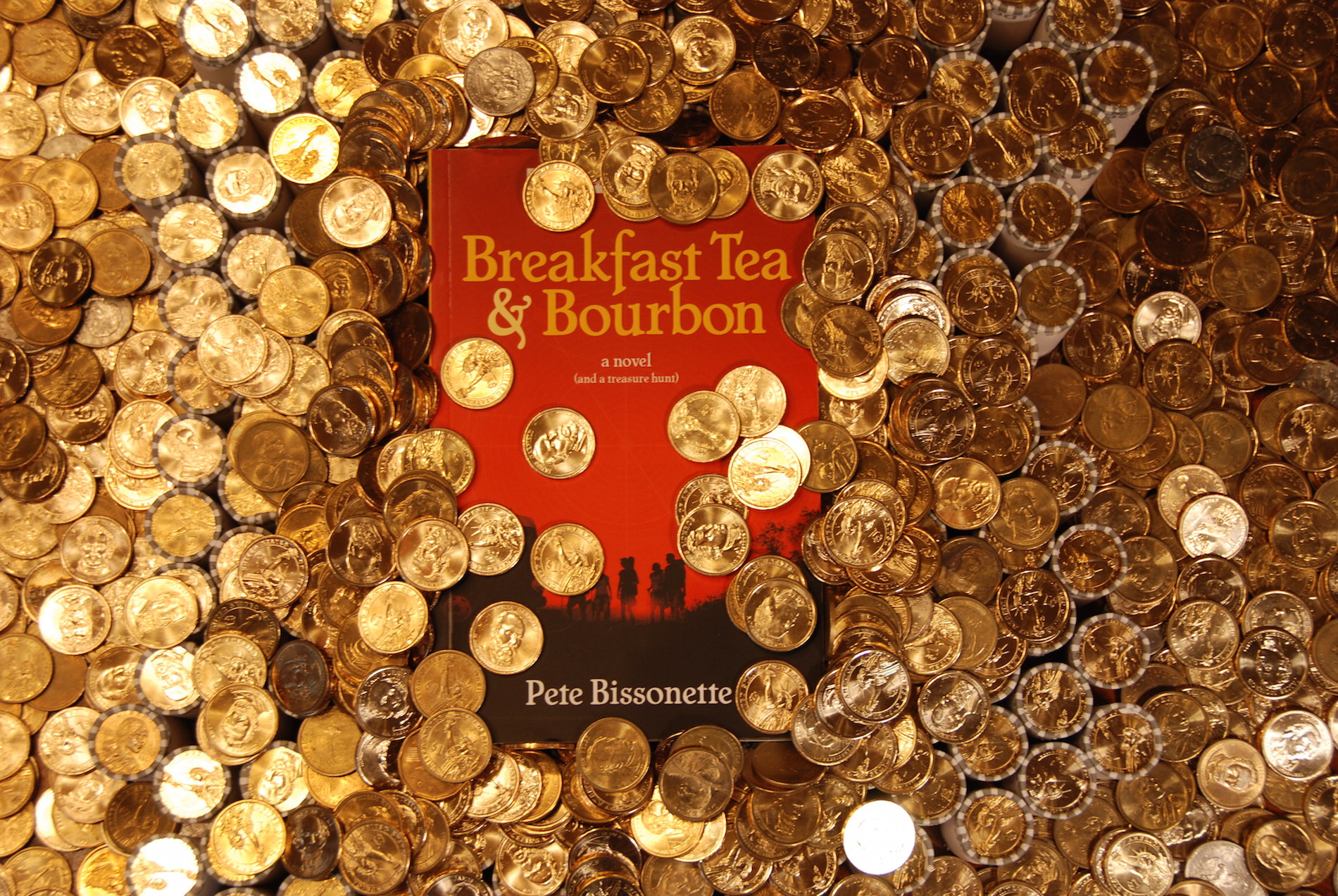 Breakfast Tea and Bourbon novel and treasure hunt by Pete Bissonette released Feb 9 2017