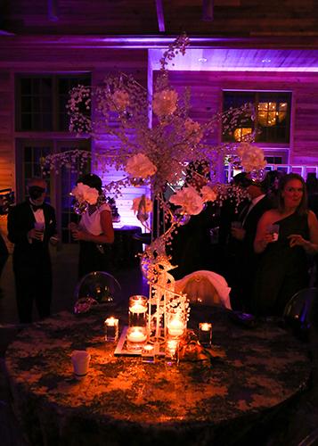 Table Decorations at Hannah Martin's Party La Lumiere at WaterColor Lakehouse