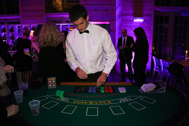 Casino Games at Hannah Martin's Party La Lumiere a Masquerade Affair 2017