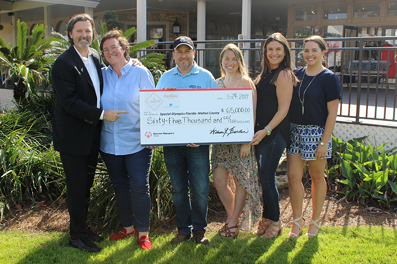 Hannah Martin's Check Presentation from la Lumiere, A Masquerade Affair with Special Olympics Florida of Walton County