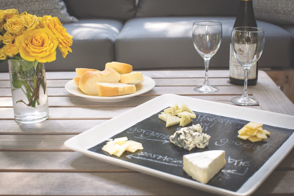 DIY Chalkboard cheese platter