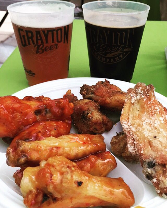 WingDings from Island Wing and Craft Beer from Grayton Beer Company