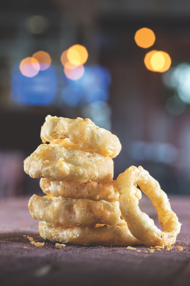 Onion Rings served at the Acme Ice House, The Village at Seacrest Beach on Scenic Highway 30-A