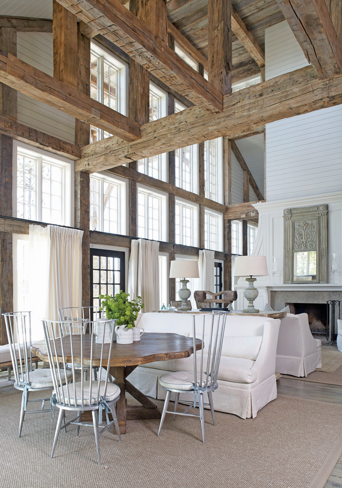 Inviting breakfast nook designed by Tracery Interiors Lake Martin home