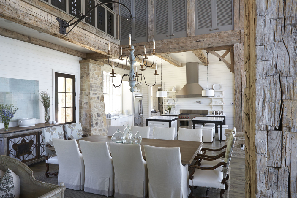 Interior shot featuring dining area in Lake Martin Home