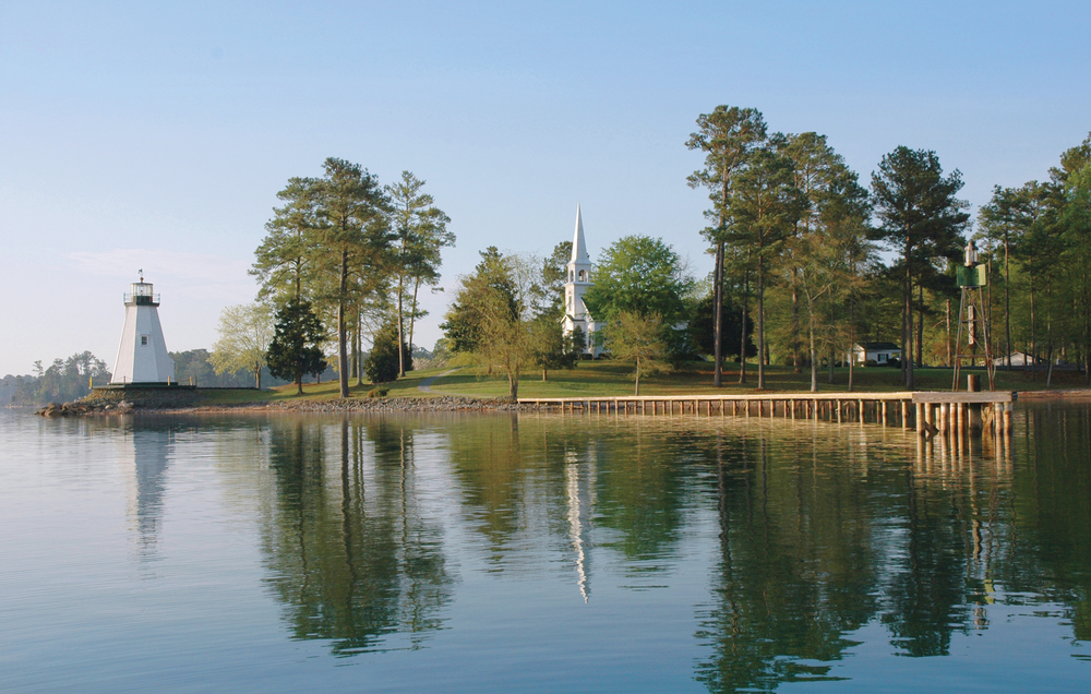 Gorgeous shot of Lake Martin and Childrens Harbor Iconic lake spot
