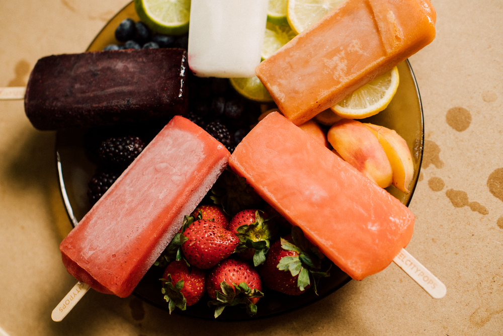 Bowl of popsicles from Steel City Pops in Birmingham Alabama fruity flavors