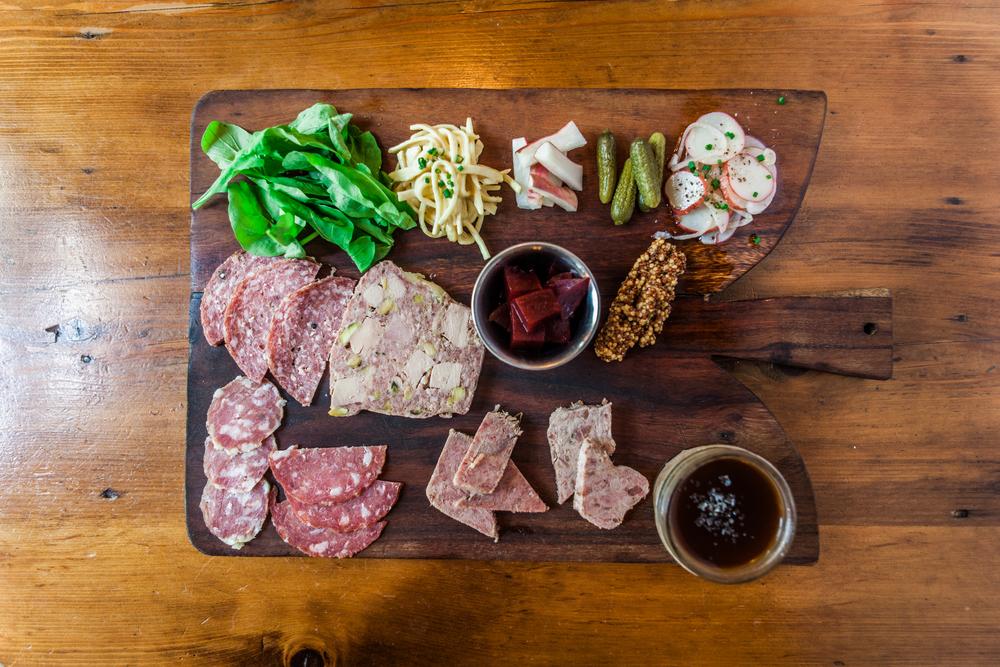 A charcuterie board appetizer from Chez Fonfon in Birmingham, Alabama