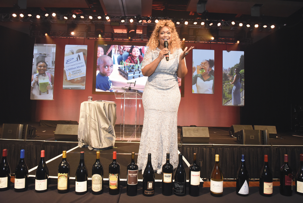 Food Network personality Sunny Anderson speaks at Carnivale du Vin in NOLA