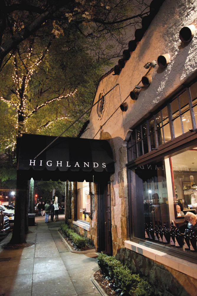 Exterior shot of Highlands Bar and Grill in Birmingham Alabama Frank Stitt