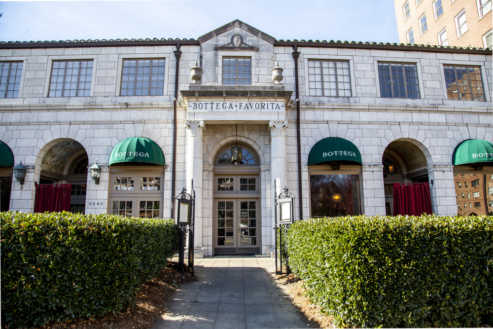 Exterior shot of Bottega in Birmingham Alabama restaurant by Frank Stitt