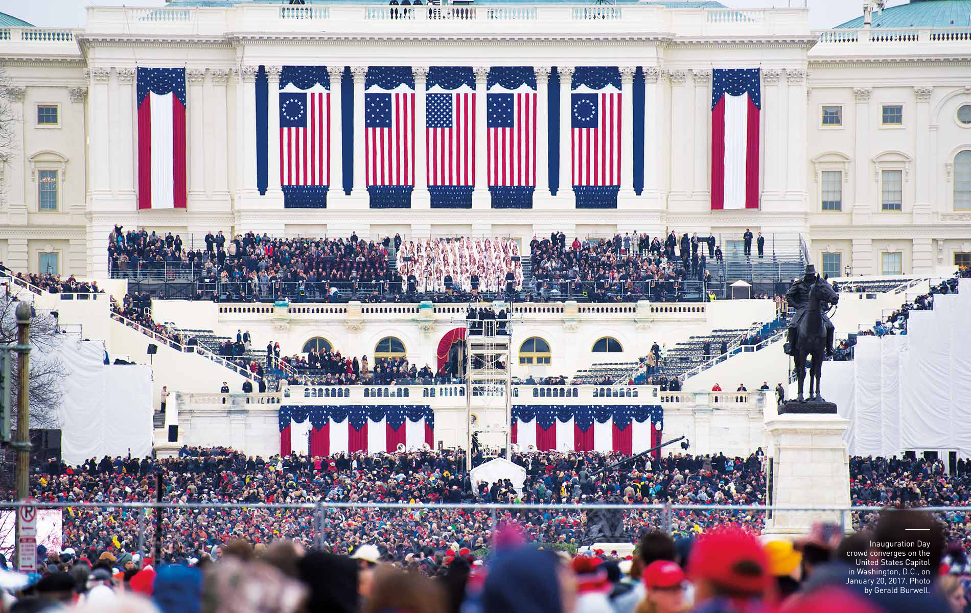 Inauguration Day crowd on the United States Capitol in Washington, D.C. January 20, 2017