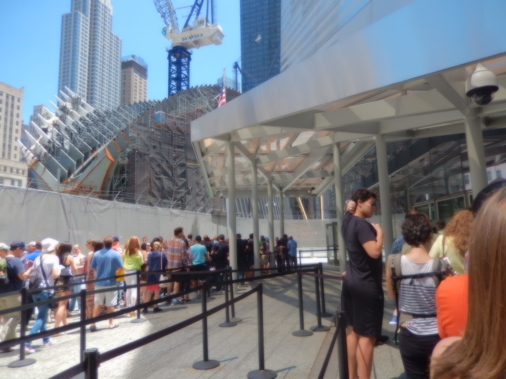 September 11 World Trade Center Memorial queue