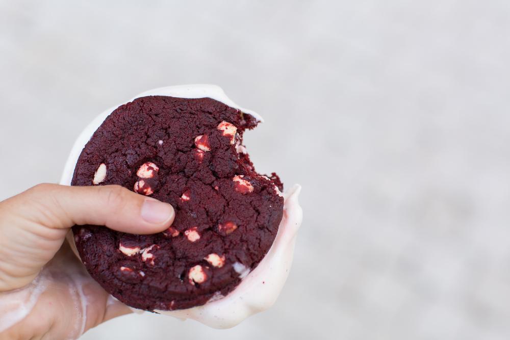 Smallcakes Cupcakery and Creamery ice cream cookie sandwich
