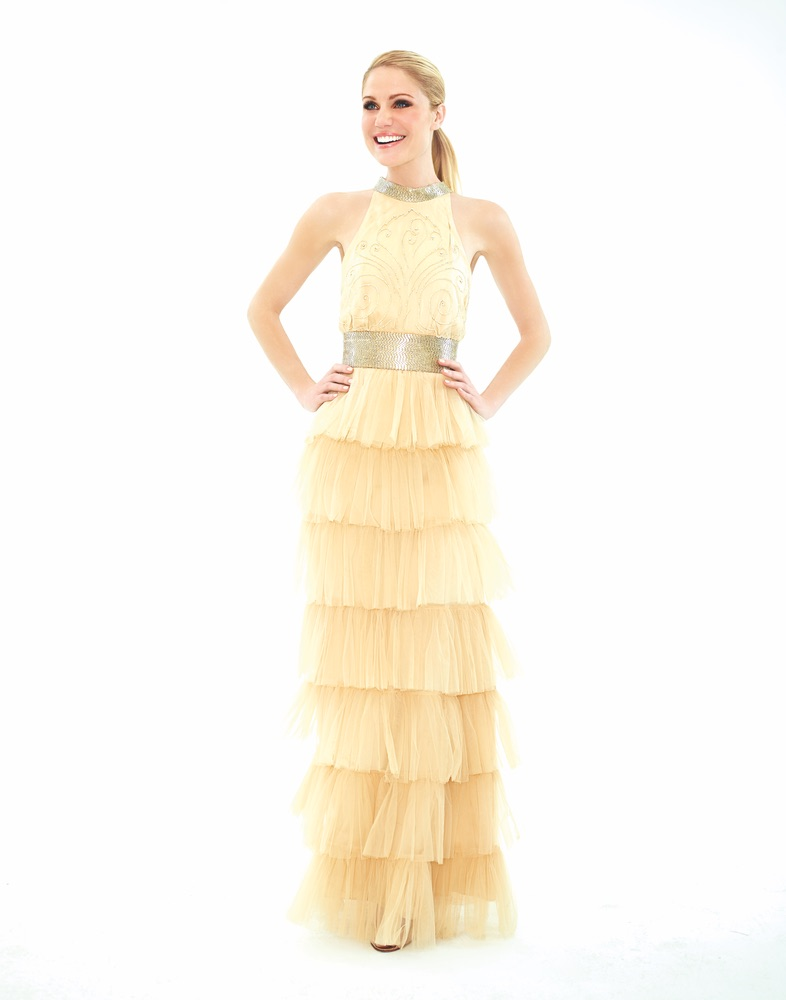 Cream dress on Virginia Williams Hollywood Leading Lady