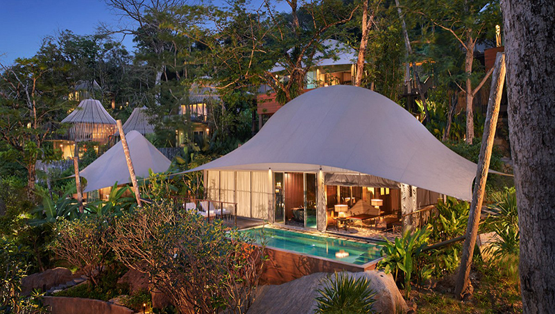 Tent Pool Villa at Keemala Resort in Phuket, Thailand
