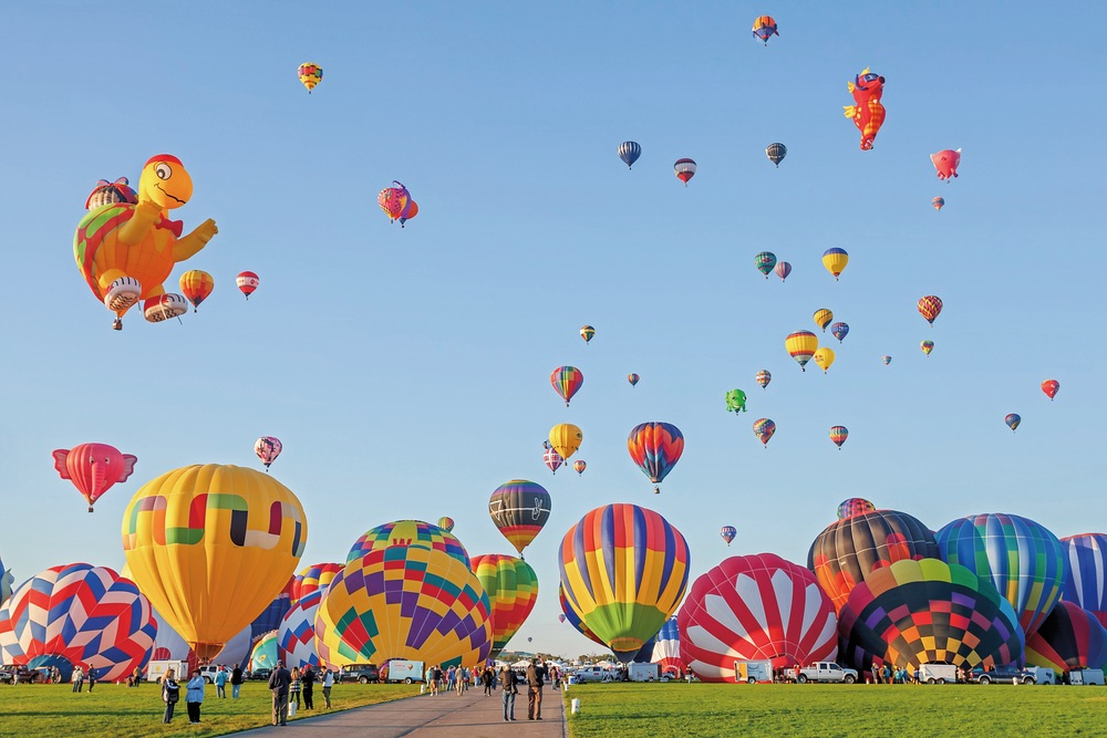 Hot Air Balloons; festival; Albuquerque International Balloon Fiesta