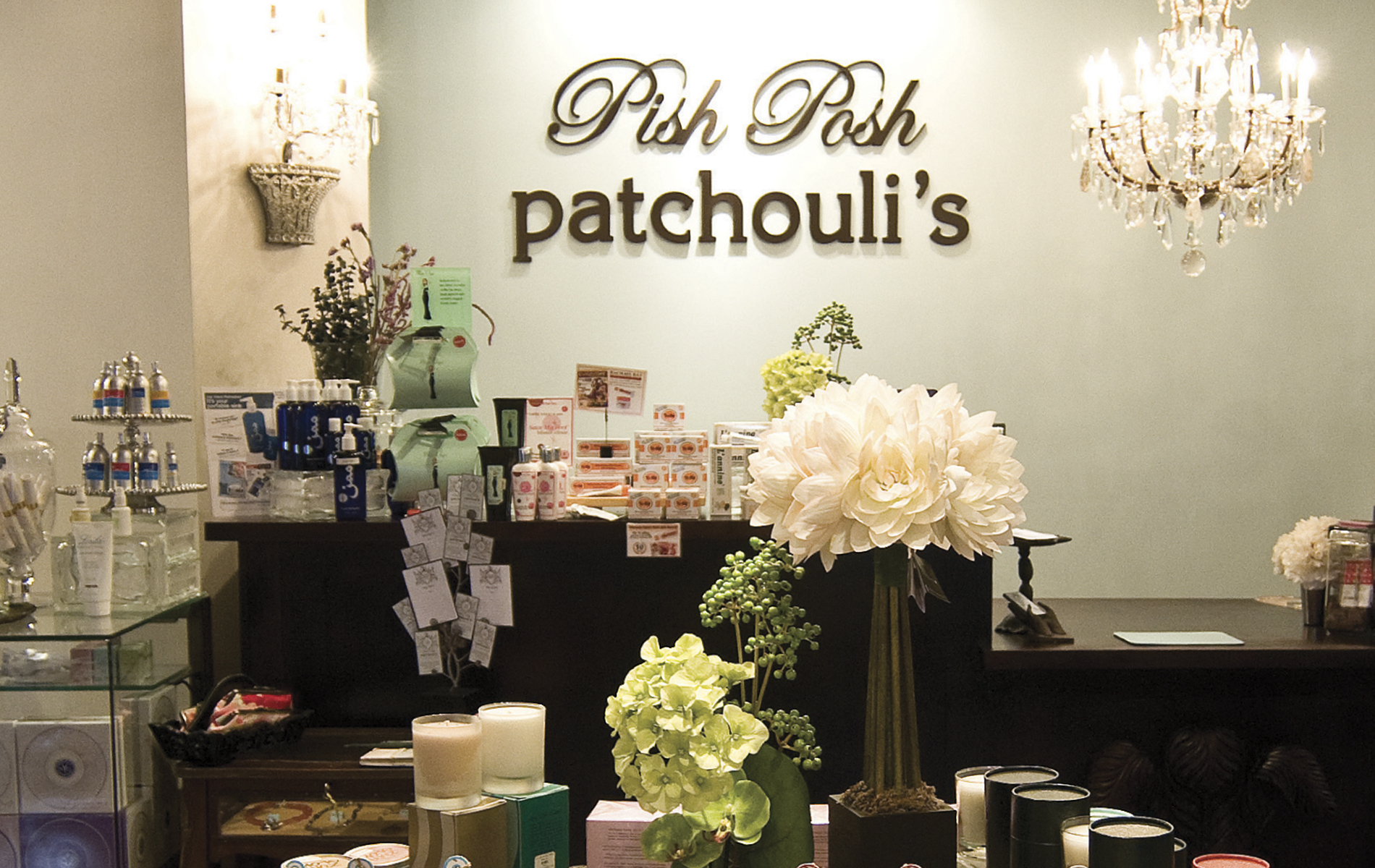Pish Posh Patchouli's; desk