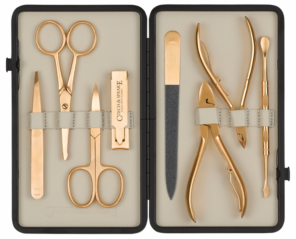 C'est la VIE Curated Collection; Czech & Speake Gold Manicure Set