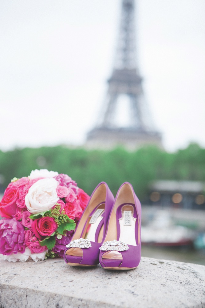 Shoes; Flowers; Eiffel Tower