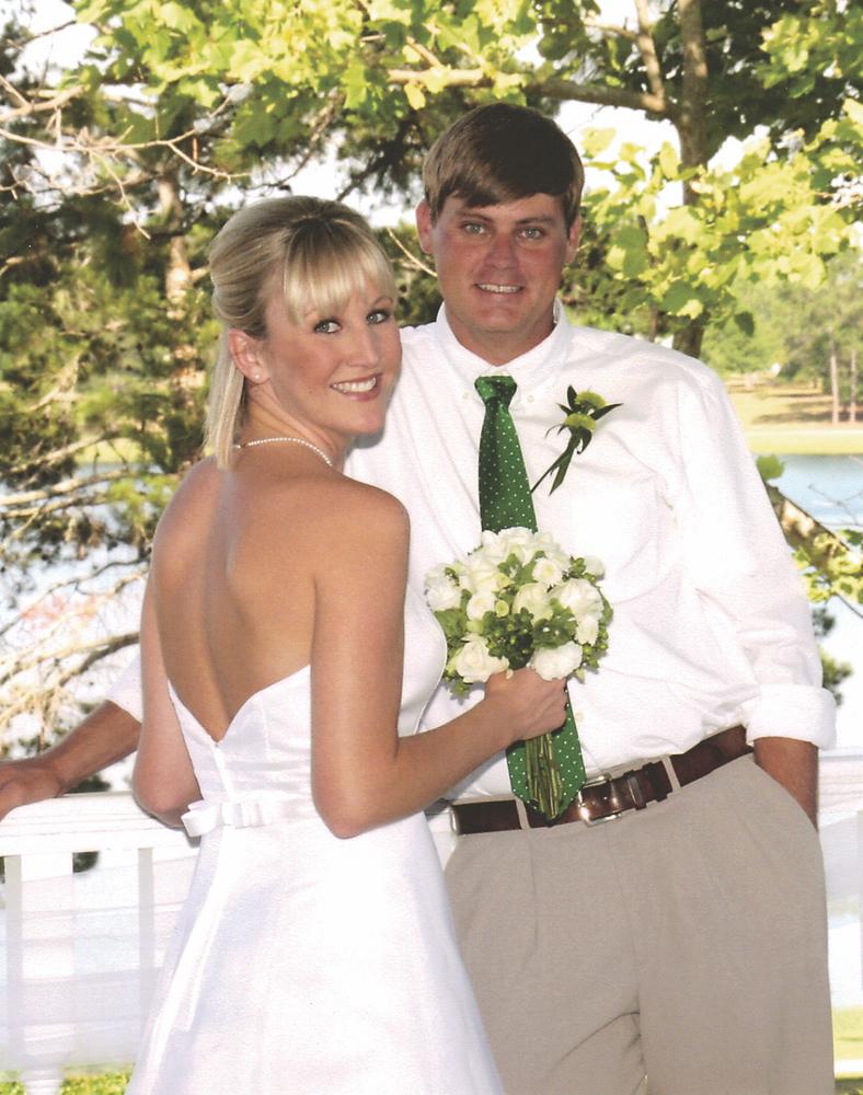 Leah Beard; Bayne Powell; wedding couple