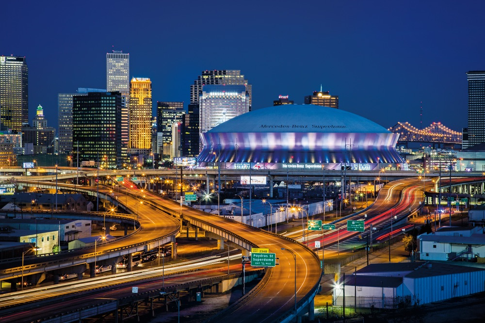 This is the Mercedes-Benz Superdome in New Orleans