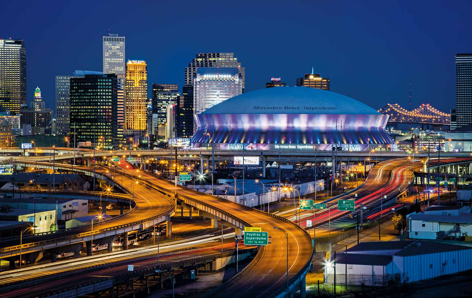 Cityscape of New Orleans, Louisiana