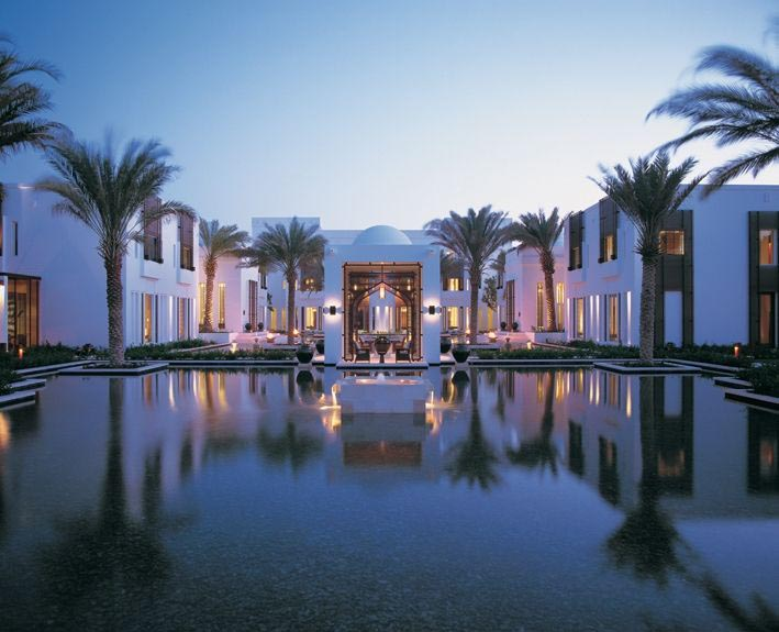 Chedi Muscat Oman reflected pool