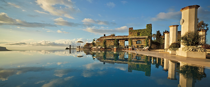 Outdoor Pool at Belmond Hotel Caruso in Italy