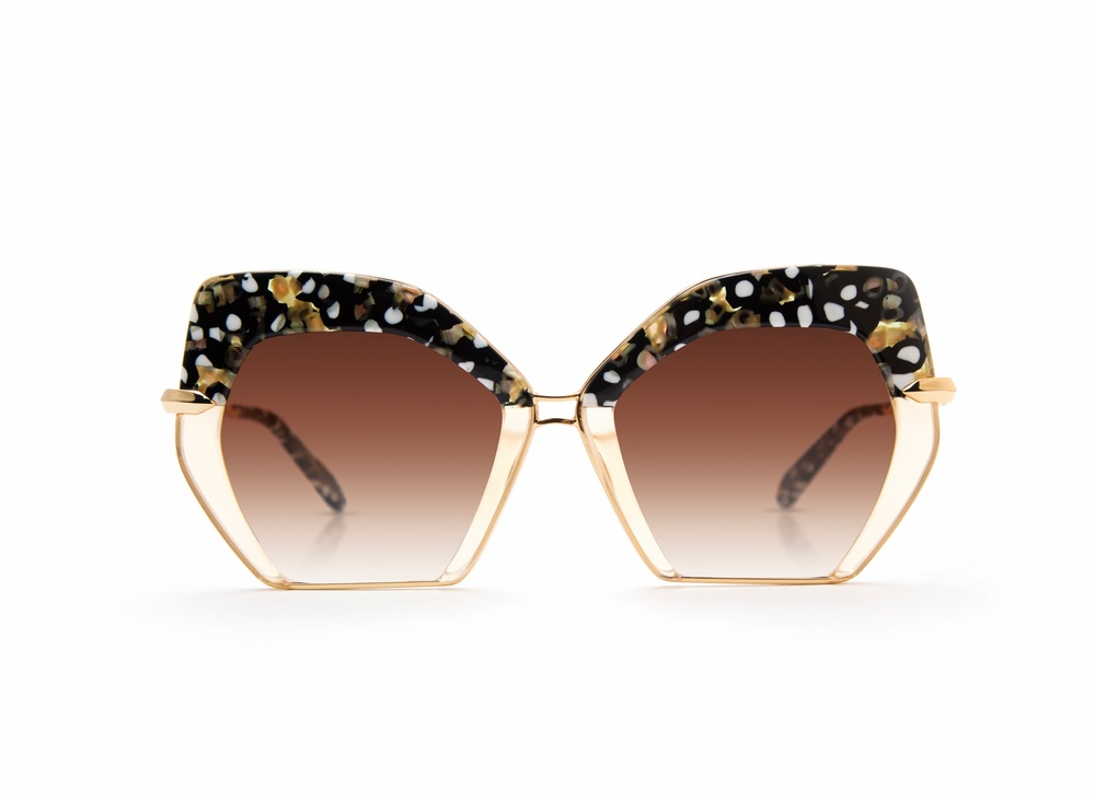 Octavia Sunglasses in Plume to Champagne 24K