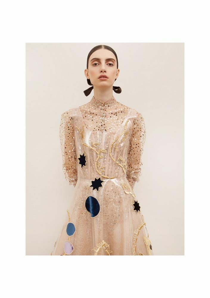 Sandra Mansour Callisto Plastic Midi Dress
