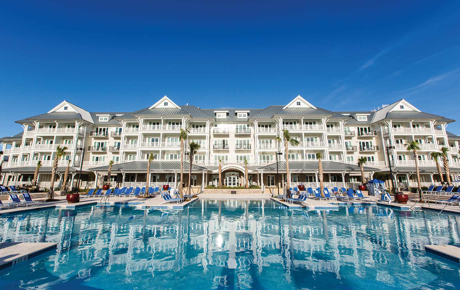 A view of the pool at The Beach Club at Charleston Harbor Resort and Marina