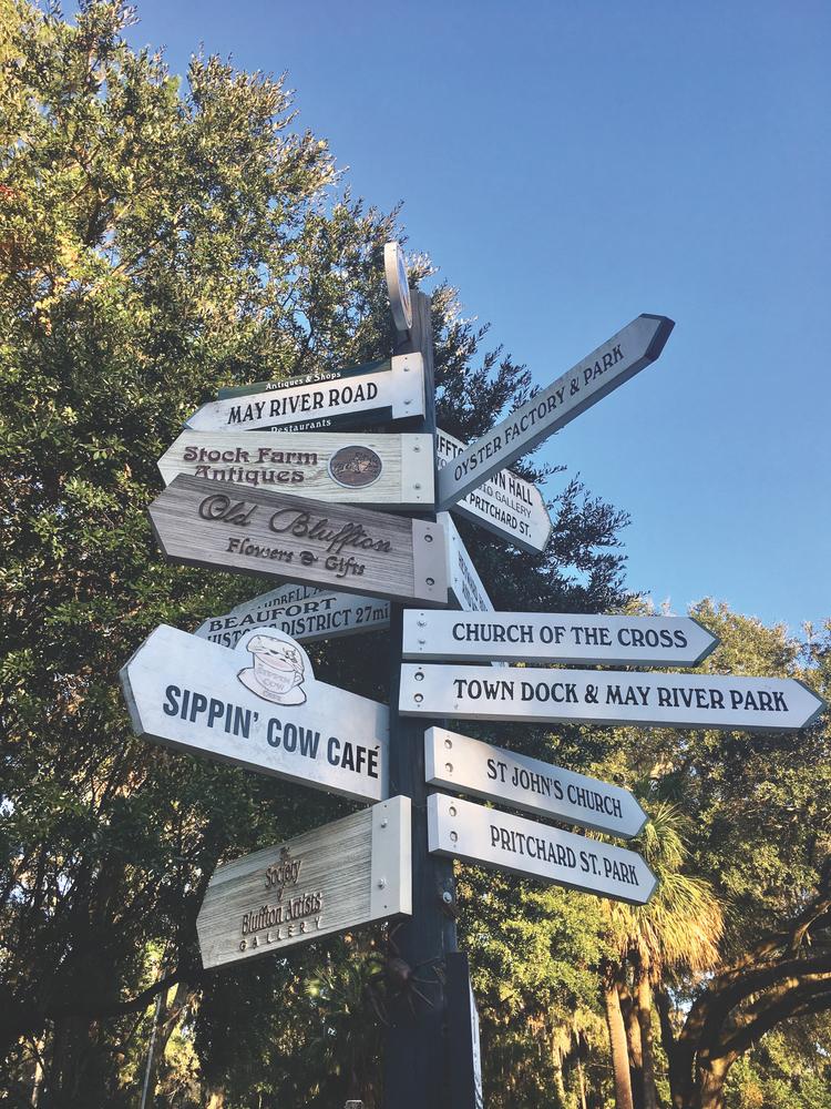 Bluffton, South Carolina; signage