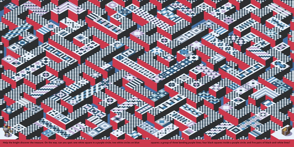 Labyrinth Book maze by Théo Guignard