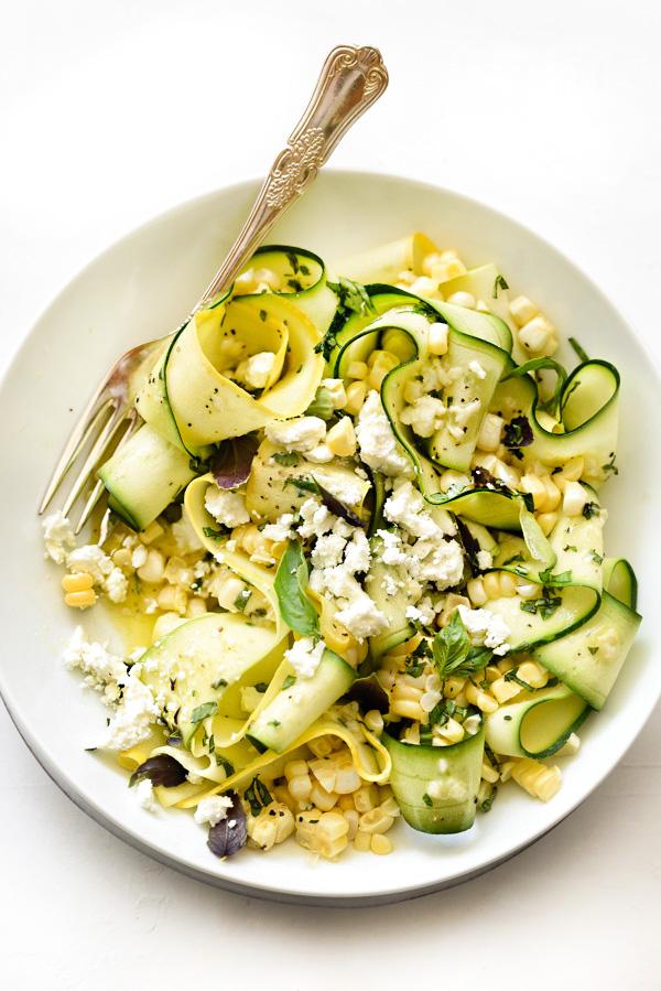 Foodie Crush Zucchini and Corn Salad