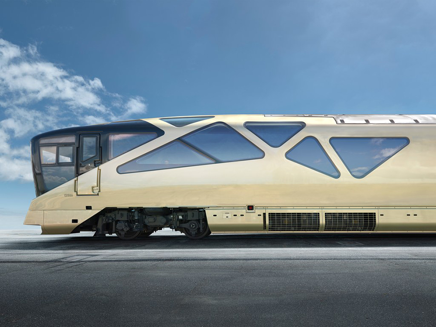 Shaki Shima Luxury Train in Japan Exterior