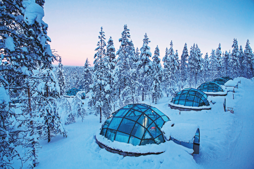 Kakslauttanen Arctic Resort igloo snowy trees cest la vie adventurer 2017